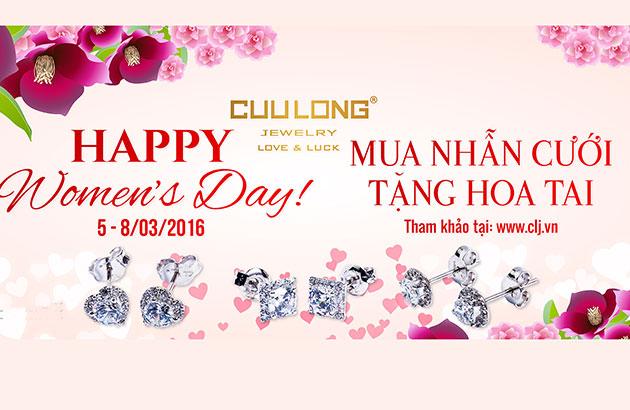Cùng Cửu Long Jewelry cho ngày 8/3 thêm trọn vẹn