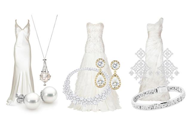 Cách phối trang sức hợp áo cưới
