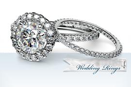 Cặp nhẫn đính hôn và nhẫn cưới
