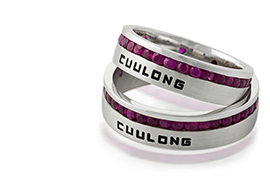Cửu Long Jewelry khắc tên lên nhẫn cưới