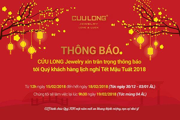 Cửu Long Jewelry - Thông báo nghỉ tết