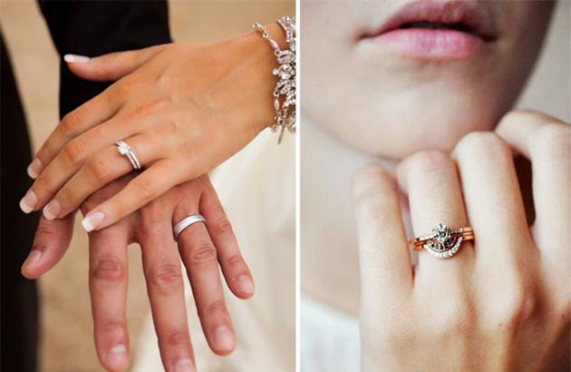 Đeo nhẫn cưới và nhẫn đính hôn sao cho hợp lý?