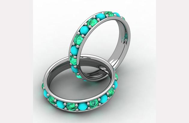 Nhẫn đá ngọc bích cho cô dâu tháng 12