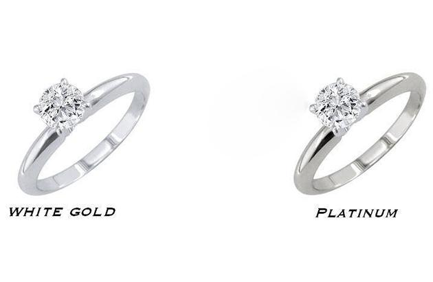 Phân biệt trang sức vàng trắng và platinum