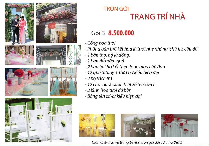 Dịch vụ trang trí tiệc cưới chuyên nghiệp tại TP. Hồ Chí Minh