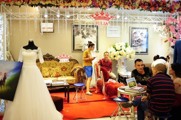 Gian hàng trang trí ấn tượng tại Marry Wedding Day Hà Nội 2015