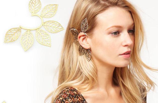 Hoa tai Ear Cuff - phụ kiện mới cho cô dâu cá tính