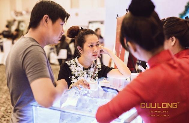 Gian hàng của Cửu Long Jewelry tại Hội chợ Cưới tiết kiệm 2015