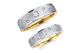 Nhẫn cưới hai màu nổi bật